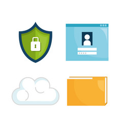 security system concept icons vector image