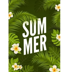 Summer tropic poster design Floral nature jungle vector image vector image
