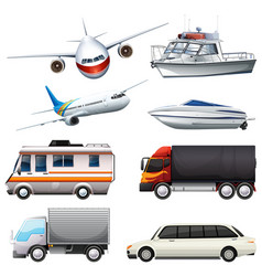 different types of vehicles vector image