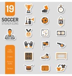 Soccer Icon Sticker Set vector image