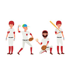 sport baseball player classic uniform vector image vector image