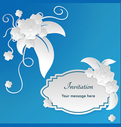 wedding invitation card templates with paper cut vector image vector image