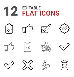 12 ok icons vector image