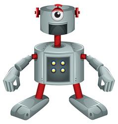 A grey robot vector