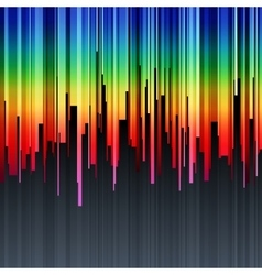 Abstract vertical infographics rainbow gradient vector