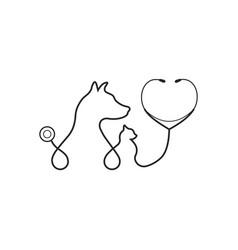 animal treatment icon on white background vector image
