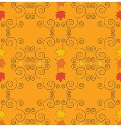 Autumn seamless pattern art vector image