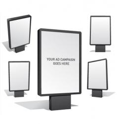 billboards vector image vector image