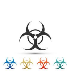 biohazard symbol icon isolated on white background vector image