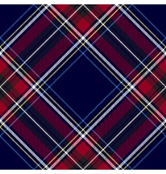 Blue red diagonal check tartan textile seamless vector