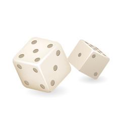 bone dice 3d realistic casino gambling game deisgn vector image