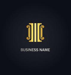Building ornament gold logo vector