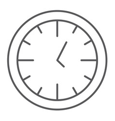clock thin line icon time and dial watch sign vector image