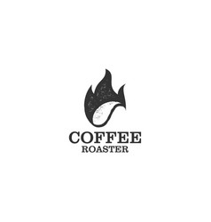 Coffee logo roaster logo for product vector