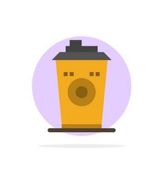 Coffee mug starbucks black coffee abstract circle vector