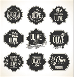 collections of olive oil labels 4 vector image