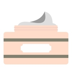 Cream in a jar icon flat style vector