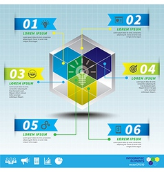 Cube business infographic template vector