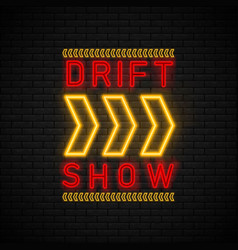 Drift show racing vector