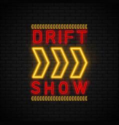 Drift show racing vector