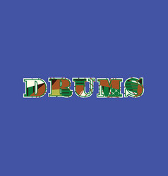 Drums concept word art vector