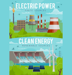 electric power eco clean energy generation vector image