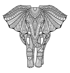 Elephant coloring book vector image
