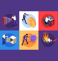 financial crisis design concept vector image