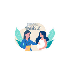 Flat design international midwives day vector