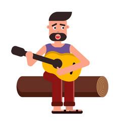 Flat style cartoon a man vector