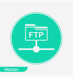 ftp icon sign symbol vector image