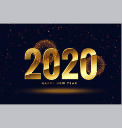 golden 2020 new year celebration greeting vector image
