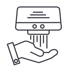 hand dryer line icon sign on vector image