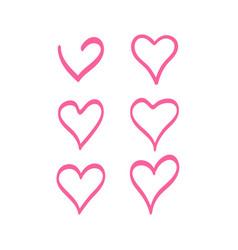 Hearts temp stroke pink vector