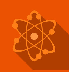 icon structure of the nucleus of the atom around vector image