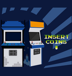 insert coins to play arcade vector image