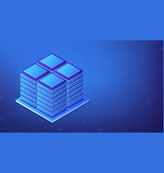 isometric server room concept vector image