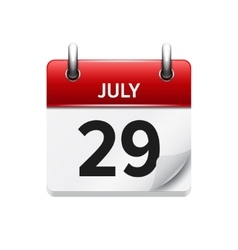 July 29 flat daily calendar icon Date vector