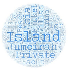 Jumeirah private island phuket text background vector