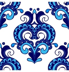Luxury Damask flower pattern for fabric vector