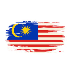 Malaysian flag brush grunge background vector
