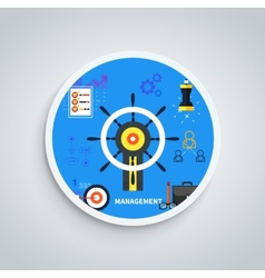 Management concept vector