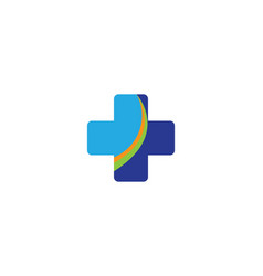 medical logo template vector image