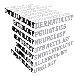 Medical terms typography vector
