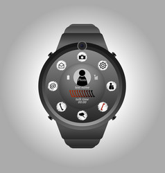 multifunctional smart watches vector image
