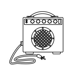 Music speaker isolated vector
