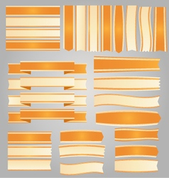 Orange ribbons and banners vector