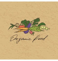 Organic food badge vector