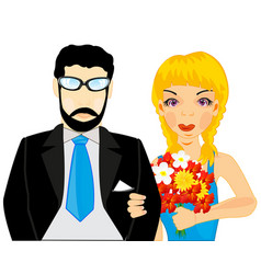 pair man and woman vector image vector image