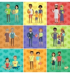 People of world concept in flat design vector
